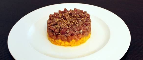Tartare di Tonno Salmone e Mango