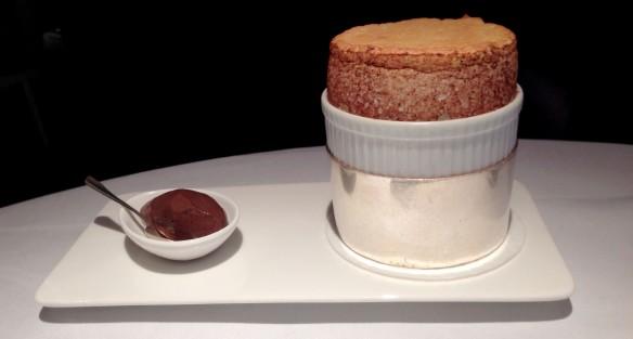 English peppermint soufflé @ Restaurant Gordon Ramsay