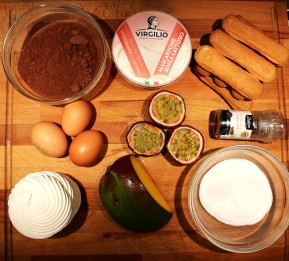 Ingredienti tiramisù esotico